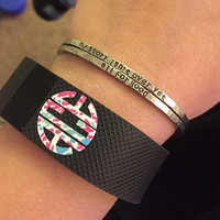 Lilly Pulitzer Inspired - Fitbit Flex Monogram Decal Fitbit Charge Monogram Decal - Set of 3 - Workout - Lilly