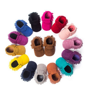 Newborn Baby Soft Bebe Moccs Suede Shoes
