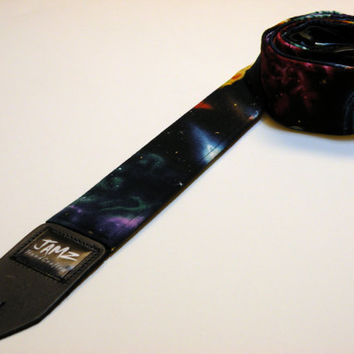 SPACE JAM Guitar Strap - Galaxy - Solar System - Milky Way - Planets