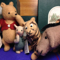 R. John Wright Pocket Pooh, Piglet, Eeyore & Tigger Matching Numbered Set at HALF PRICE!