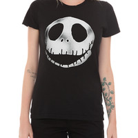 The Nightmare Before Christmas Jack Head Girls T-Shirt