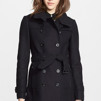 Women's Burberry Brit 'Daylesmoore' Wool Blend Trench Coat,