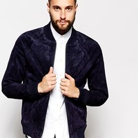Barneys Jacket Suede Punched Bomber