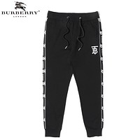 Burberry Fashion New Embroidery Letter Women Men Pants Black