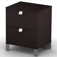 South Shore Furniture, Cakao Collection, Night Table, Chocolate