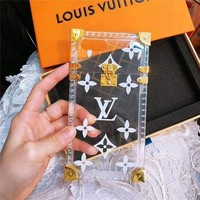 Louis vuitton fashion hit for women's transparent printed iPhone case