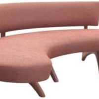 One Kings Lane - French 50s 60s - Vladimir Kagan-Style Curved Sofa