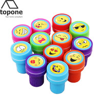 12 pcs / lot Cute Cartoon Rubber Stamps Animal Panda Self Inking Christmas Rubber Stamps Set for Scrapbooking Gifs Toys for kid