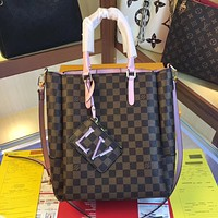LV Women Leather Shoulder Bags Satchel Tote Bag Handbag Shopping Leather Crossbody Satchel