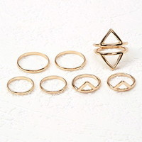 Mixed Cutout Ring Set