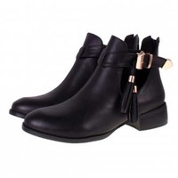 BEBO Cut Out Boots |Ladies Ankle Boots | Black Cut Out Boots