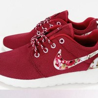 NIKE Trending Fashion Casual Sports Shoes Red Floral