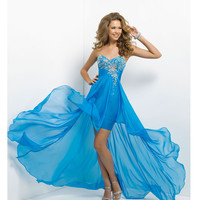 (PRE-ORDER) Blush 2014 Prom Dresses - Ocean Strapless Chiffon High-Low Prom Dress