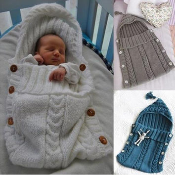 Baby Solid Color Hold Blanket Sleeping Bag