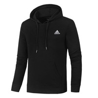ADIDAS autumn and winter trend men's loose sports hoodie Black