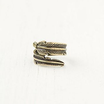 Free People Feather Wrap Ring