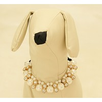 Dog jewelry, Pet Wedding accessories, Rhinestone and pearls, birthday, beaded Necklace , Wedding dog collar