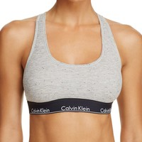 Calvin Klein Modern Cotton Graphic Ribbed Bralette | Bloomingdales's