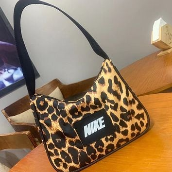 NIKE New fashion letter leopard print shoulder bag handbag