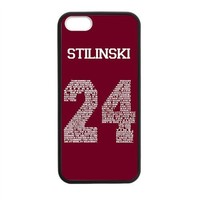 """Shinhwa Create Teen Wolf Stiles """"Quote"""" Jersey Custom Laser Rubber Case for iPhone 5 5S"""