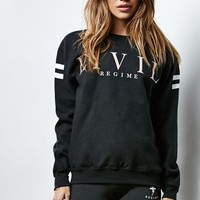 Civil Crew Neck Sweatshirt - Womens Hoodie - Black