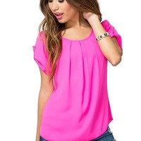 Khloe Pleated Tee
