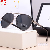 GG classic stitching color logo engraving men's and women's beach glasses sunglasses