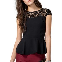 Avery Peplum Top