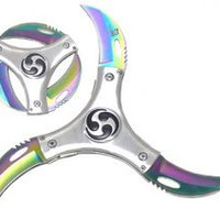 Cyclone Blade knife Silver Rainbow Blade VL-03RB