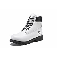 Timberland 10061 Leather Lace-Up Boot Men Women Shoes Black White