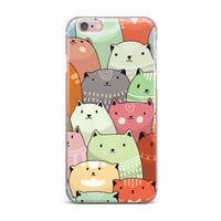 "Snap Studio ""Kitty Attack"" Cat Illustration iPhone Case"