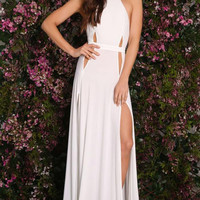 Newest Prom Backless Dresses With Slit White/Black Sexy Cutout Open Back Maxi Jersey Dress LC60685 Vestidos Largos De Verano