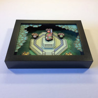 Zelda 3D Shadow Box with Master Sword from Legend of Zelda: A Link to the Past for Nintendo in 16 Bit Style