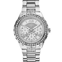 Silver-Tone Glitz Active Sport Watch at Guess