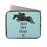 Just Get Over It Horse Jumper Laptop Bag Laptop Computer Sleeves from Zazzle.com