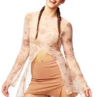 Nude Scene Sheer Floral Gateway Top