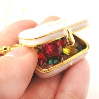 Travel Bag Suitcase Locket Full of Gems Necklace - It Opens Up! | Limited Edition Jewelry