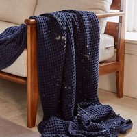 Distressed Waffle Throw Blanket - Urban Outfitters