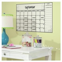 RoomMates Scroll Dry Erase Calendar Peel and Stick Wall Decals