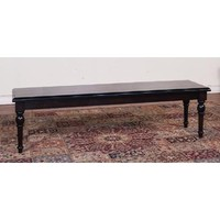 Sunny Designs Jefferson Bench with Wood Seat In Java
