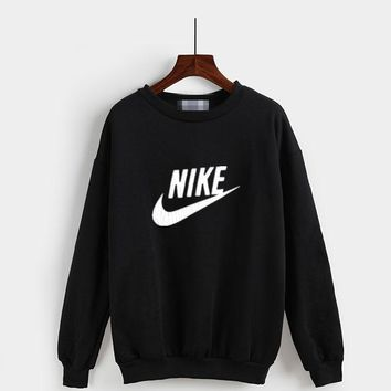 """""""Nike"""" Fashion Casual Classic  Letter Print Couple Long Sleeve Sweater Tops"""