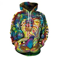 Graffiti Rasta Monkey Elder Meditation Rafiki Hoodie Men women 3d Sweatshirts Wizard Clown Oil Orangutan Printing Hooded hoodies