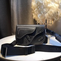 Kuyou Gb5988 Dior Saddle Messenger Bag In Grained Calfskin 24*17*8cm
