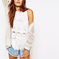 Abercrombie & Fitch Mesh Cardigan