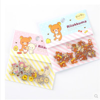 80 pcs pack Cute Rilakkuma Sealing Stickers Diary Label Stickers Pack Decorative Scrapbooking DIY Stickers