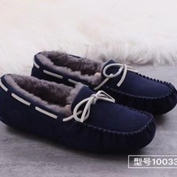 """""""UGG"""" men's shoes, fashion wool, snow shoes, leather shoes."""