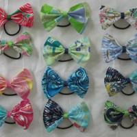 Preppy Ponytails: Lilly Pulitzer fabric hair bows from the Preppy Pony