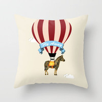 Fly Away Circus Zebra by Adidit Throw Pillow by Adidit | Society6