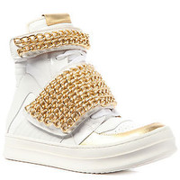 Jeffrey Campbell Sneaker Bones Chain in White and Gold