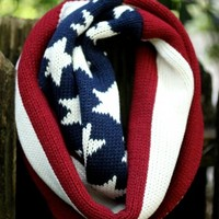 American Flag Infinity Scarf - Scarves